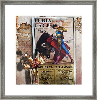 Bullfighter With Roses Framed Print by Larry Butterworth