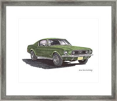 Bullitt 1968 Big Block Mustang Framed Print by Jack Pumphrey