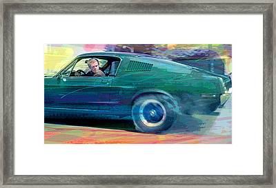 Bullitt Mustang Framed Print by David Lloyd Glover
