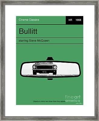 Bullitt, Steve Mcqueen, Minimalist Movie Poster Framed Print by Thomas Pollart