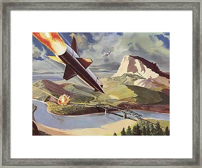 Bullpup Air To Surface Missile Framed Print by American School