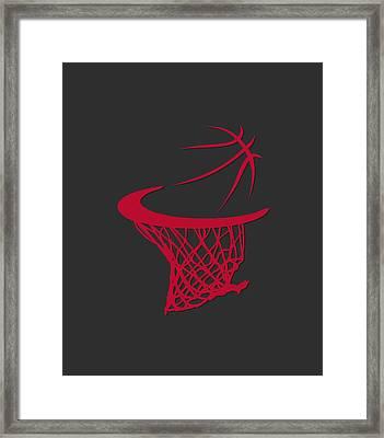 Bulls Basketball Hoop Framed Print by Joe Hamilton