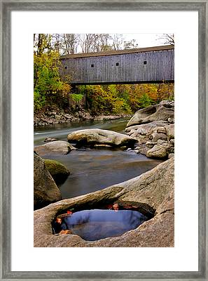 Bulls Bridge - Autumn Scene Framed Print by Thomas Schoeller