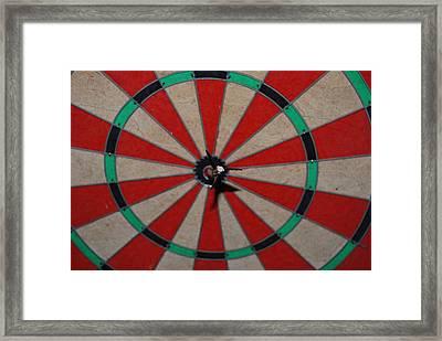 Bulls Eye Framed Print by Rob Hans