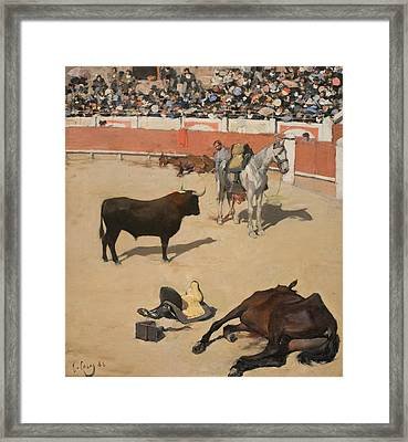 Bulls  Framed Print by Ramon Casas