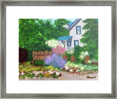 Bully Hill Vineyard Framed Print