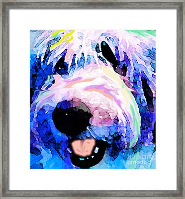 Bumble Bear Framed Print by Alene Sirott-Cope