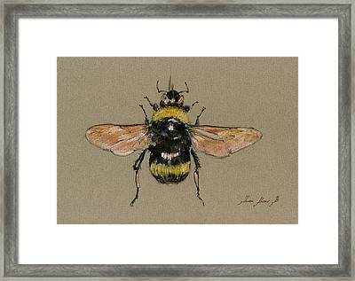 Bumble Bee Art Wall Framed Print by Juan  Bosco