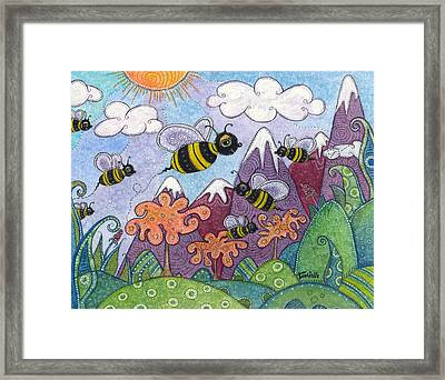 Bumble Bee Buzz Framed Print