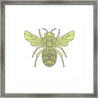 Bumble Bee Mandala Framed Print