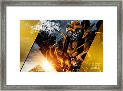 Bumblebee Transformers Collection Framed Print by Marvin Blaine
