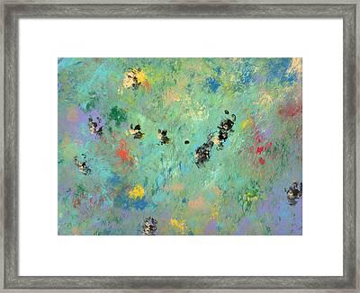 Bumblebees Framed Print by Helene Henderson