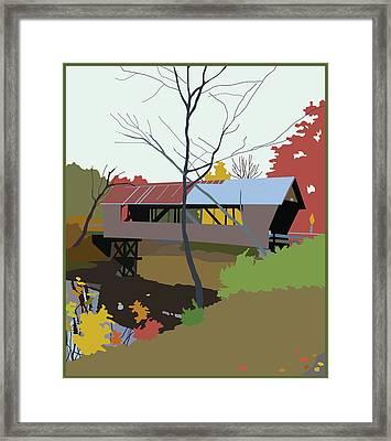 Bump Bridge Framed Print by Marian Federspiel