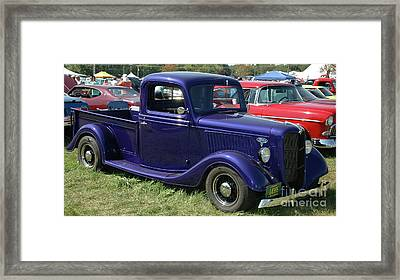 Bumper To Bumper - '36 Ford Truck Framed Print by Kathy Carlson