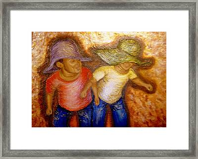 Bumpin Framed Print by Keenya  Woods
