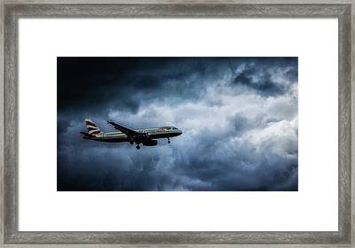 Bumpy Landing Framed Print by Martin Newman