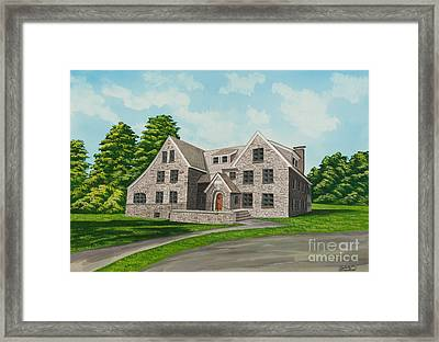 Bunch House Framed Print by Charlotte Blanchard