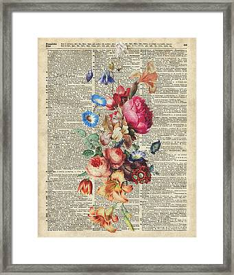 Bunch Of Colorful Flowers Framed Print by Jacob Kuch