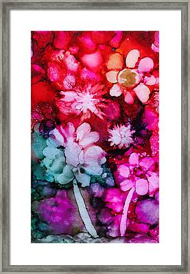 Bunch Of Flowers Framed Print