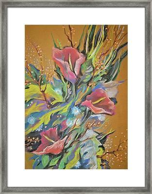 Bunch Of Flowers Framed Print by Olena Chernyshova