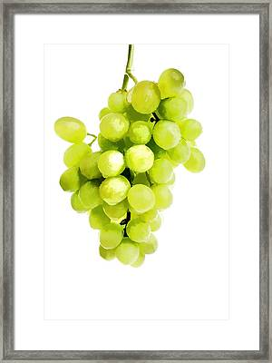 Bunch Of Fresh Grapes Framed Print by Lanjee Chee