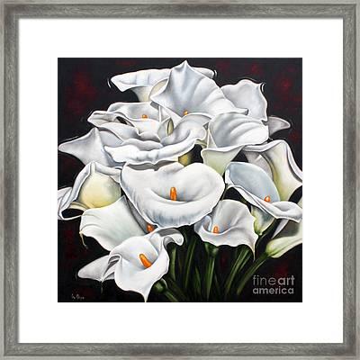 Bunch Of Lilies Framed Print by Ilse Kleyn