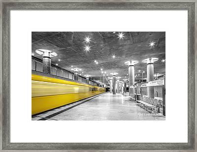 Bundestag U Bahn Station, Berlin, Germany Framed Print by Julie Woodhouse
