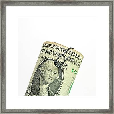 Bundle Of Banknote. Dollars. Framed Print by Bernard Jaubert