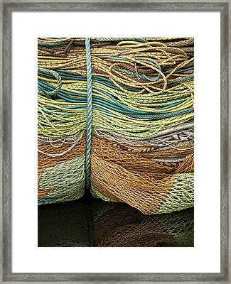 Bundle Of Fishing Nets And Ropes Framed Print