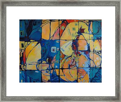 Framed Print featuring the painting Bundle The Sky by Bernard Goodman