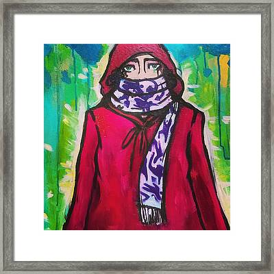 Bundled Up Framed Print by Molly Pearce