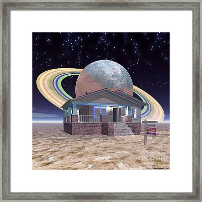 Bungalow For Sale On A Strange, New World, 2 Framed Print by Walter Oliver Neal