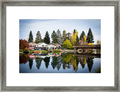 bungalows on the Deschutes Framed Print