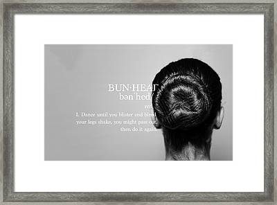 Bunhead Defined Framed Print