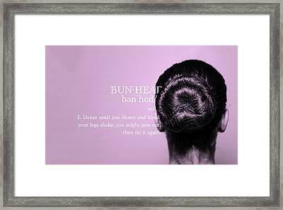Bunhead Pink Framed Print