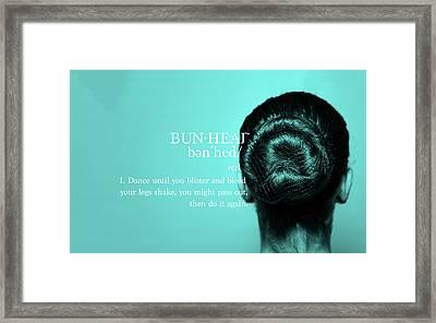 Bunhead Turqoise Framed Print