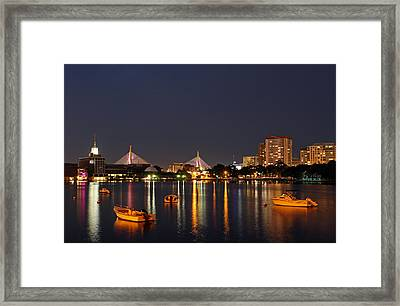 Bunker Hill Bridge Framed Print by Juergen Roth