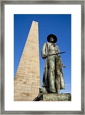Bunker Hill Memorial Framed Print by Brian Jannsen