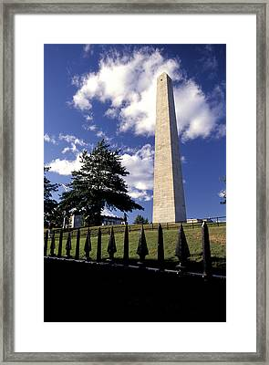 Bunker Hill Monument In Charlestown Framed Print by Richard Nowitz
