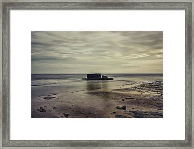 Bunker In The Sands Framed Print by Martin Newman