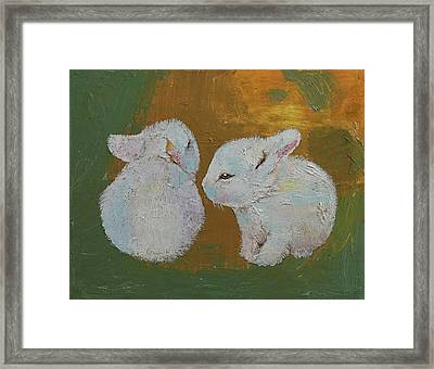 White Bunnies Framed Print by Michael Creese