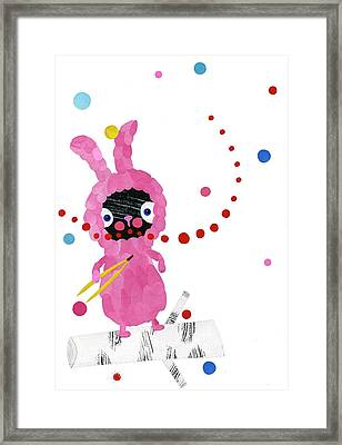 Bunny Framed Print by Anne Vasko