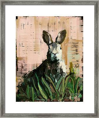 Bunny Framed Print by Carrie Joy Byrnes