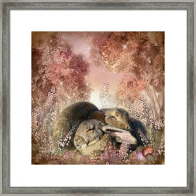 Bunny Dreams Framed Print by Carol Cavalaris