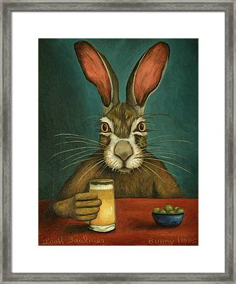 Bunny Hops Framed Print by Leah Saulnier The Painting Maniac