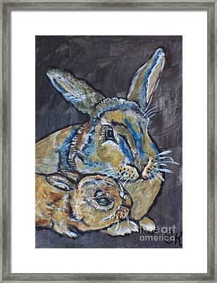 Bunny Love Looks Like Framed Print by Ella Kaye Dickey