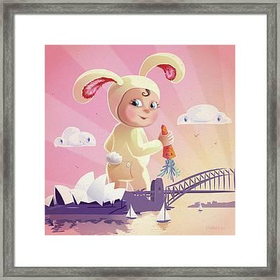 Bunny Mae Framed Print by Simon Sturge