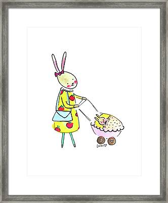 Bunny Mom Framed Print