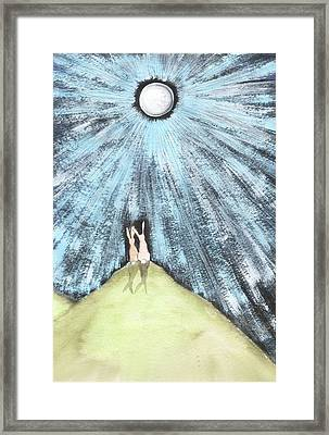 Bunny Moon Framed Print