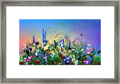 Bunny Playground Framed Print by Hanne Lore Koehler